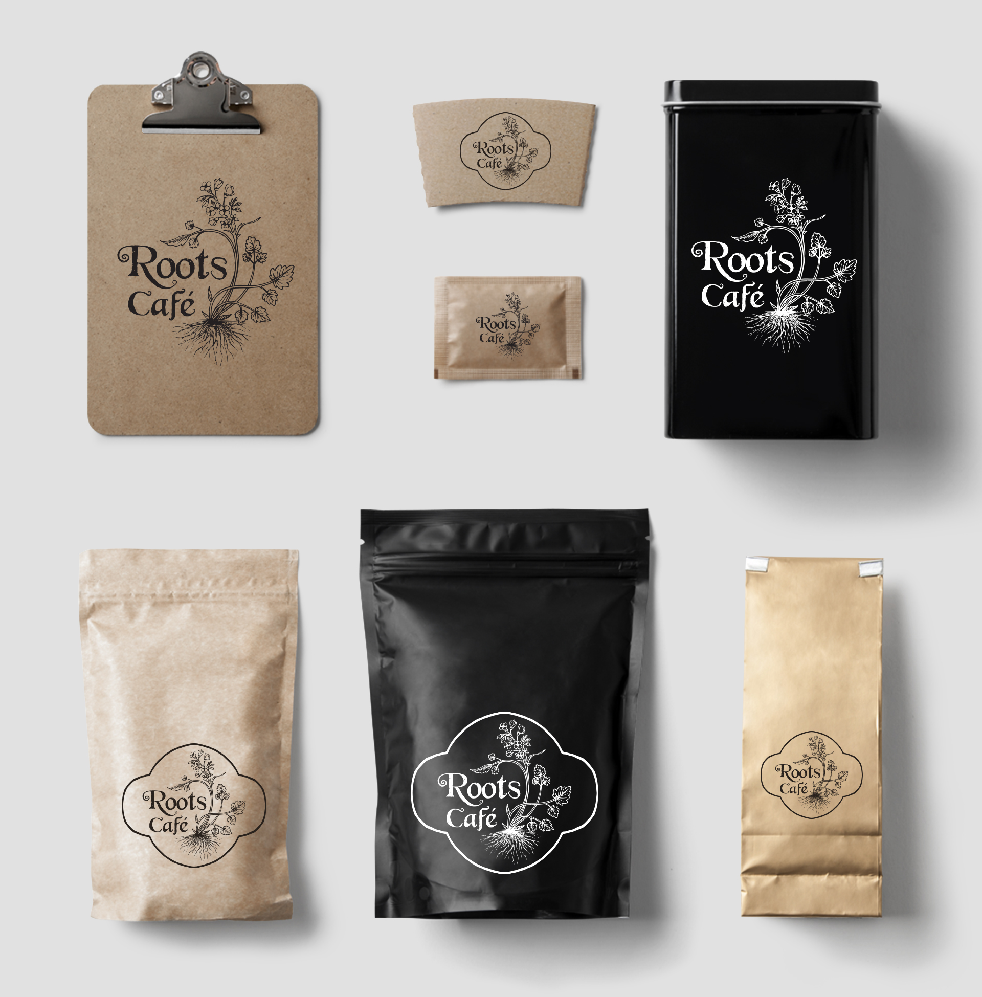 Roots Café Coffee Stationery Mockup - Eleonora Casetta