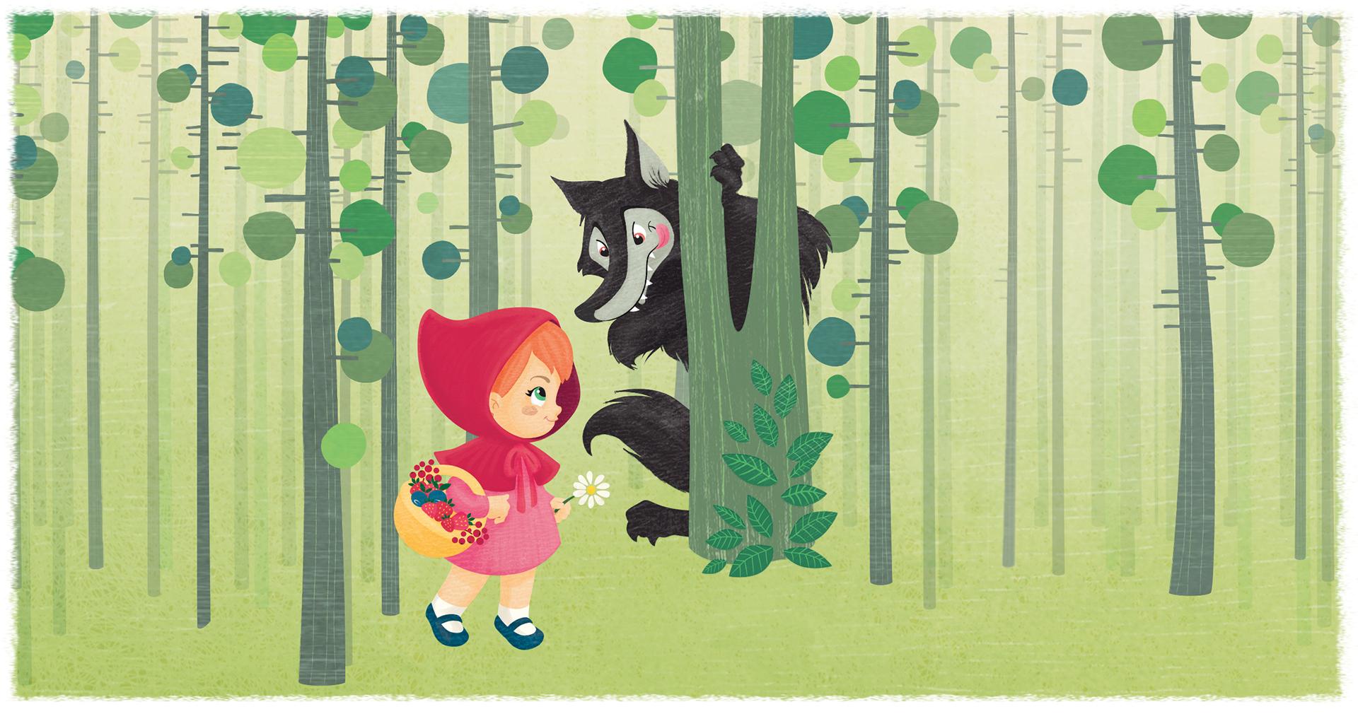 Pastiglie Leone Illustrazione Cappuccetto Rosso - Eleonora Casetta