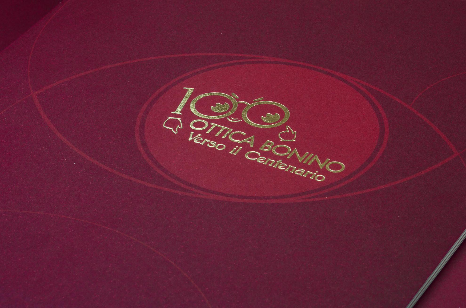 Verso il Centerario Ottica Bonino Brochure Rosso - Eleonora Casetta