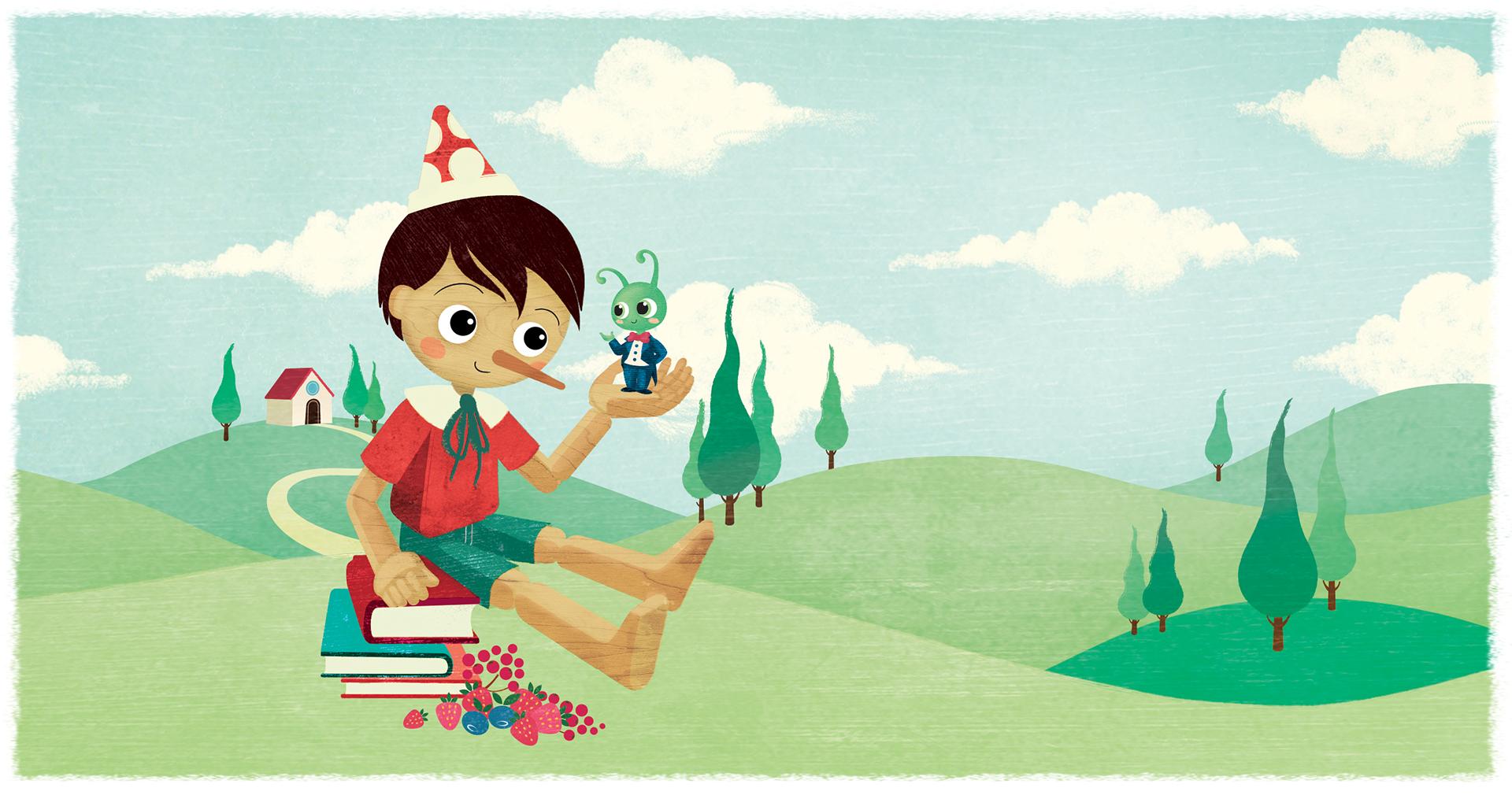 Pastiglie Leone Illustrazione Pinocchio - Eleonora Casetta