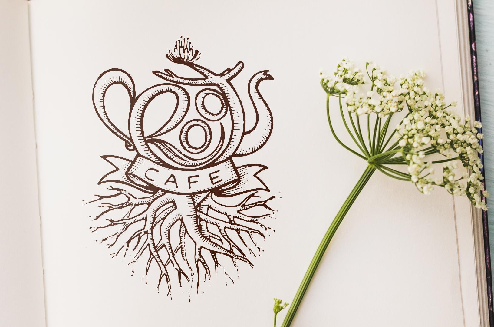 Roots Café Logo - Eleonora Casetta